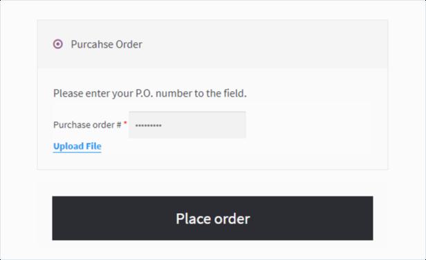 Pasarela de órdenes de compra de WooCommerce B2B - 3